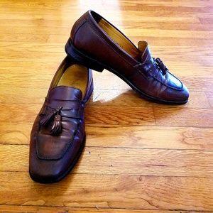 COLE HAAN Brown Pinch Tassel Loafer Dress Shoe Men